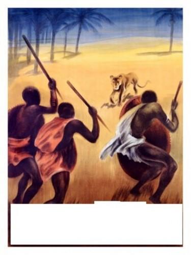 la chasse au lion de otto baumberger.jpg